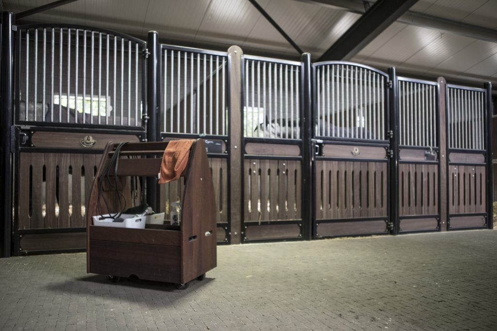 Tack cart mahogany in stables